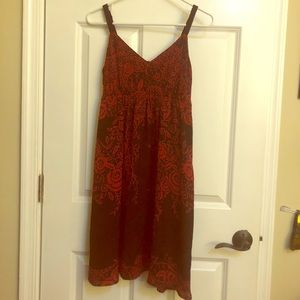 Red and Black - Flower Design Dress - Apt 9